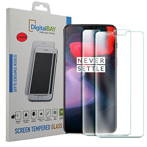 2 Pack Pellicola Vetro Temperato OnePlus 6 Digital bay Protezione Antigraffi Resistente Pellicola Protettiva Protezione Protettore Glass Screen Protector per OnePlus 6