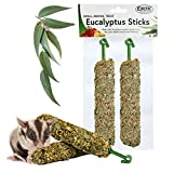 Exotic Nutrition Eucalyptus Sticks - Healthy Vitamin-Fortified Crunchy Chew Treat - Natural Treat for Sugar Gliders - Made with Eucalyptus Leaves, Oats, Fruit, Honey