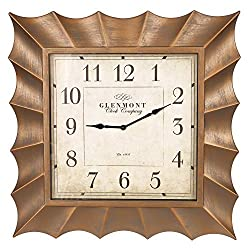 30 Gold Scallop Framed Square Wall Clock