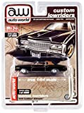 1975 Cadillac Eldorado Black with Brown (Partial) Vinyl Top Custom Lowriders Limited Edition to 4800 pcs 1/64 Diecast Model Car by Autoworld CP7719