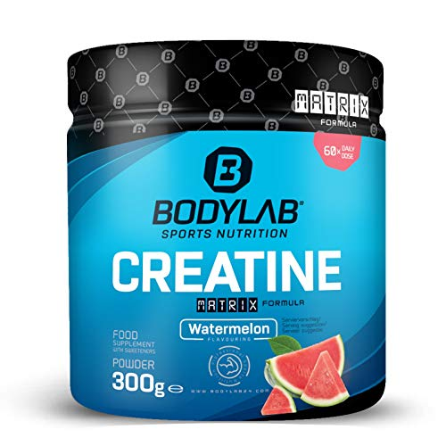 Bodylab24 Creatine Drink Matrix 300g / Kreatinpulver mit 4 verschiedenen Kreatinarten / liefert 3g reines Kreatin je Portion / leckeres Frucht-Getränk / Wassermelone