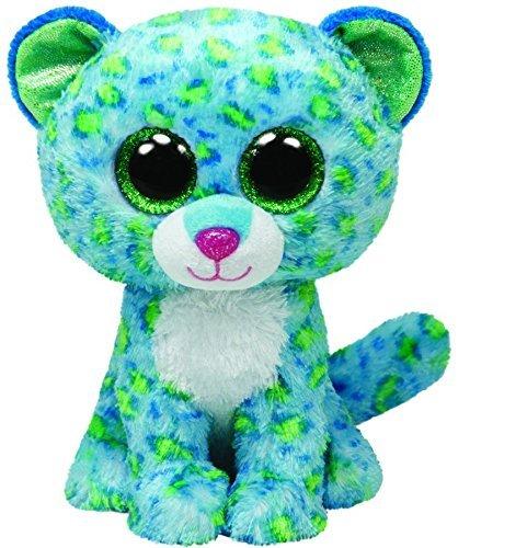 VintageⅢ 2018 Neu Beanie Boo Leona der Leopard mit Glitzeraugen für Cute Lovely Plüschtier, 15cm 1stücke