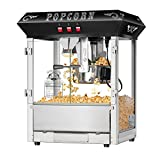 Superior Popcorn Company 4635 SPC Hot Fresh 8OZ BLK Top Popcorn Machine, 8 oz, Black Vintage