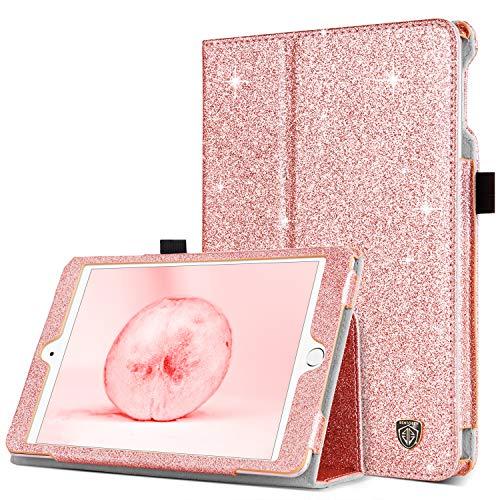 BENTOBEN Case for iPad Mini 5 2019 / iPad Mini 4 2015, Glitter Sparkly Folio Folding Stand Smart Auto Wake/Sleep Faux Leather Protective Case for Apple iPad Mini 4 / Mini 5 7.9 Inch, Rose Gold