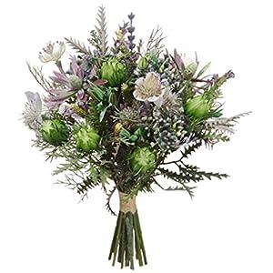 11.5″ Nigella & Protea Pod Silk Flower Bouquet -Purple/Lavender (Pack of 6)