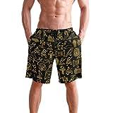 VLOOQ-HX Pantaloncini da Bagno per Uomo, Boxer Ed Antico egizio, Costume da Bagno sotto-v ê Ment, con Pantaloncini Tasca