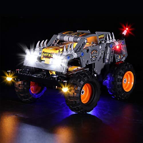 Sungvool Kit de iluminación LED para Lego Technic Monster Jam Max-D 42119 (no incluye modelo Lego)