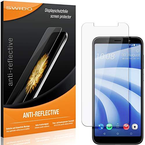 SWIDO Schutzfolie für HTC U12 Life [2 Stück] Anti-Reflex MATT Entspiegelnd, Hoher Festigkeitgrad, Schutz vor Kratzer/Folie, Bildschirmschutz, Bildschirmschutzfolie, Panzerglas-Folie