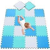 meiqicool Alfombrillas para Puzzles | Alfombra Puzzle para Niños Bebe Infantil Suelo de Goma EVA Suave 142 x 114 cm 18 Piezas 010708