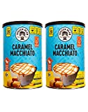 Frozen Bean Caramel Macchiato Coffee Mix 21 Oz Pack Of 2! Coffee House Quality Flavored Latte Mix! Instant Drink Is Quick And Easy To Prepare! Halal, Gluten Free And Cholesterol Free!