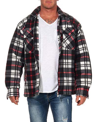 ZARMEXX Thermohemd voor heren, Karo, houthakker, werkjas met pluche vacht fleece, binnenvoering, flaneljas, geruit warm gevoerd