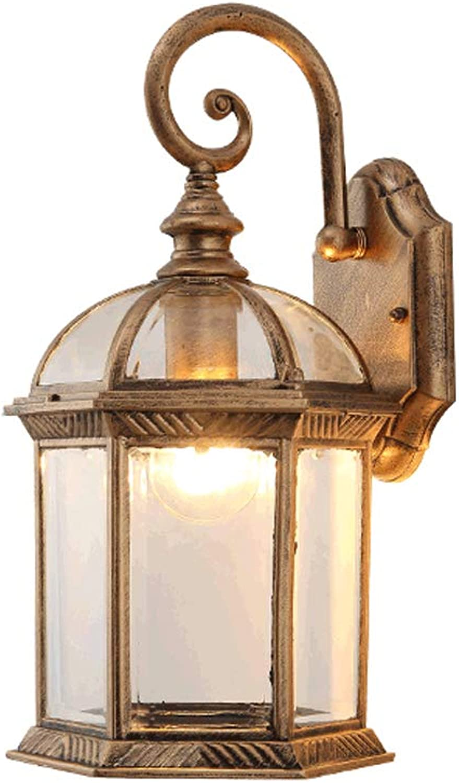 LRW Antike Wandleuchte im Freien amerikanische einfache wasserdichte Wand Tür Lampe Balkon Wohnzimmer Hof Korridor Gang Lampe Archaize Kupfer Farbe