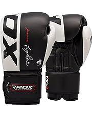 RDX Guantes de Boxeo para Muay Thai y Entrenamiento | Cuero Vacuno Mitones para Sparring, Kick Boxing | Boxing Gloves para Saco Boxeo, Combate Training