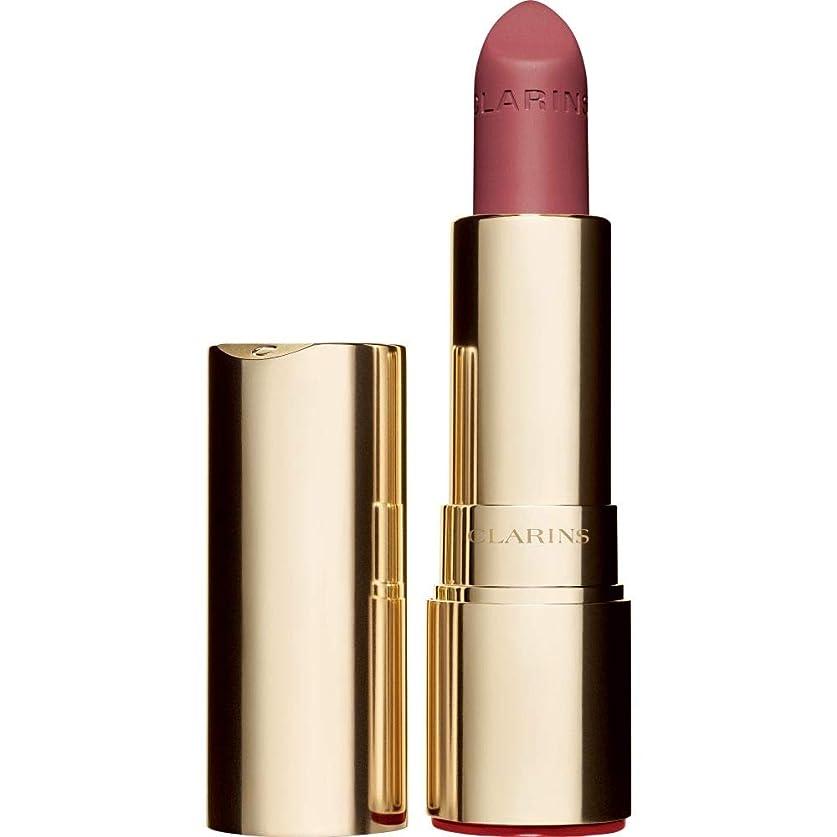 ピースモルヒネかりて[Clarins ] クラランスジョリルージュのベルベットの口紅3.5グラムの752V - ローズウッド - Clarins Joli Rouge Velvet Lipstick 3.5g 752V - Rosewood [並行輸入品]
