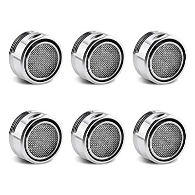 Bivisen 6 Pack Bathroom Faucet Aerator Parts, Male Kitchen Bathroom Sink Faucet Aerator 15/16-Inch or 24mm Male Threads, Chrome