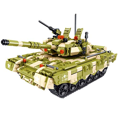 HYZM Char Militaire Jeu de Construction, 1165 Pièces France Leclerc Char de Combat Principal Modèle WW2 Militaire Tank Blocs de Construction Compatible avec Lego