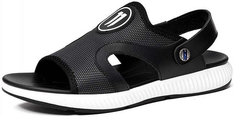 Easy Go Shopping Mans Casual Sandals and Slippers Slippers Slippers Beach herrar Sandals Leather Sandals Cricket skor (Färg  svart, Storlek  39)  ärlig service
