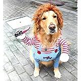 Vivi Bear 犬服 猫服 ペット服 ドッグウエア ジャケット変身服 出掛け 散歩 コスプレ服 クリスマスプレゼント 小型犬 中型犬 大型犬 厚手 アウター 可愛い 防寒(S)