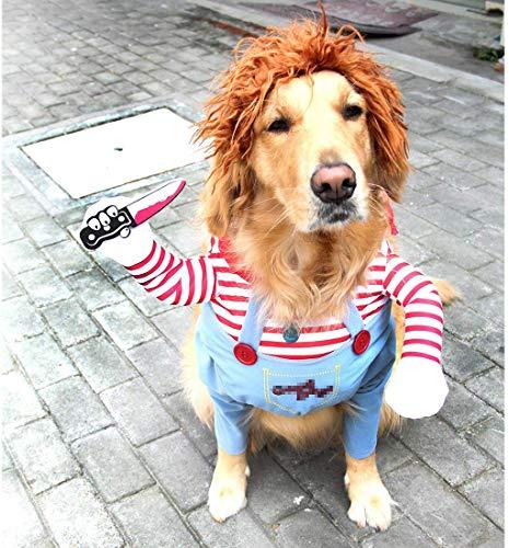 Vivi Bear Traje de Perro Novedad Funny Pets Party Cosplay Apparel Ropa para Mascotas Adecuado para Cachorros Grandes y medianos.(S)