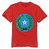 Manga corta Texas símbolos 100% algodón T camisa para hombre, parte superior funda O-Neck T Shirt