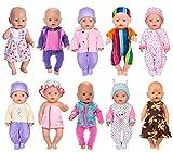 ebuddy 10 unidades. Los accesorios de ropa de muñeca incluyen pelele, vestido, pijama, traje y sombr...
