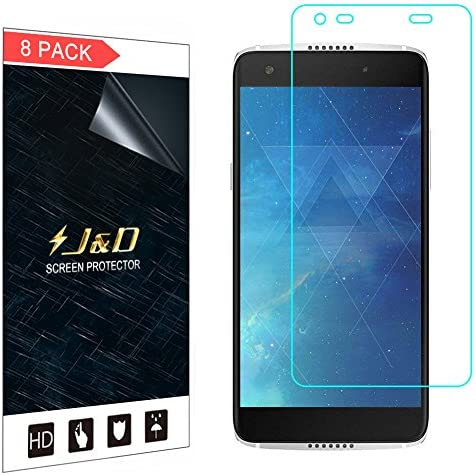 J D Compatible for Alcatel Idol 5S Screen Protector 8 Pack Not Full Coverage HD Clear Protective product image