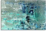 XIAOMA Cuadro abstracto de lienzo para pared en color azul y verde, cuadro abstracto abstracto abstracto para decoración del salón sin marco (60 x 90 cm)