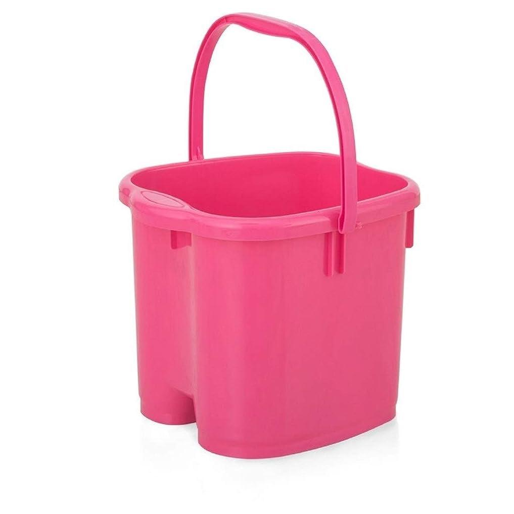 本当のことを言うと現代住む和風スパマッサージバケツ - 高さの足浴バレルプラスチックスパ浴槽足洗面台健康 XM1209-7-26-17 (Color : Pink)