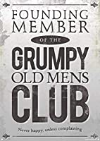 FOUNDING MEMBER OF THE GRUMPY OLD MENS CLUB 注意看板メタル安全標識注意マー表示パネル金属板のブリキ看板情報サイントイレ公共場所駐車ペット誕生日新年クリスマスパーティーギフト