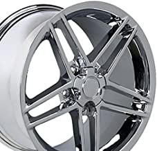 OE Wheels 18 Inch Fits Chevy Corvette Camaro Pontiac TransAm C6 Z06 Style CV07A 18x9.5/17x9.5 Rims Chrome SET