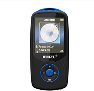 TZOU RUIZU X06 Bluetooth Sport MP3 Player with 1.8Inch Screen Player 100Hours Lossless Recorder FM 4GB Blue