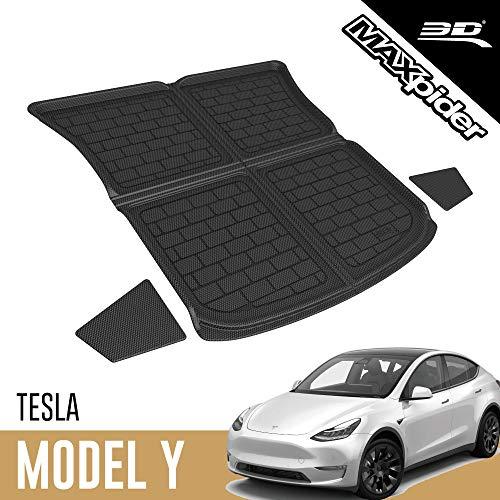 3D MAXpider Custom Fit All-Weather Rear Top Cargo Liner for Select Tesla Model Y Models - Kagu Rubber (Black)