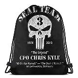 Chris Kyle Seal Team Sac à dos unisexe avec cordon de serrage