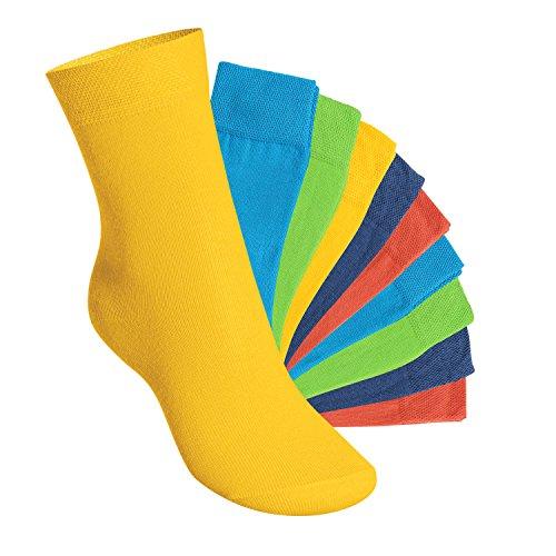 Footstar Kinder Socken (10 Paar) - Everyday! - Trendfarben 27-30