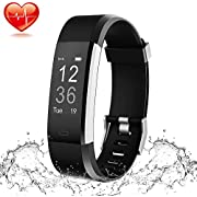 ShaWuJing Fitness Trackers, Activity Tracker Pedometer Smart Watch with Heart Rate Monito for Kids Women and Men, Compatible with Android and iOS Smartphones