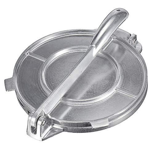CUIDALAO 20cm Cast Aluminium Tortilla Press,Tortilla Maker Machine Aluminium Deeg Press,Heavy Duty Multi Functie Kokers, Voor het vormen van Maïs Tortillas