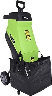 BAKAJI 2832160 - Biotriturador eléctrico triturador de Hojas con Saco de Recogida, Potencia 2400 W, 45 l