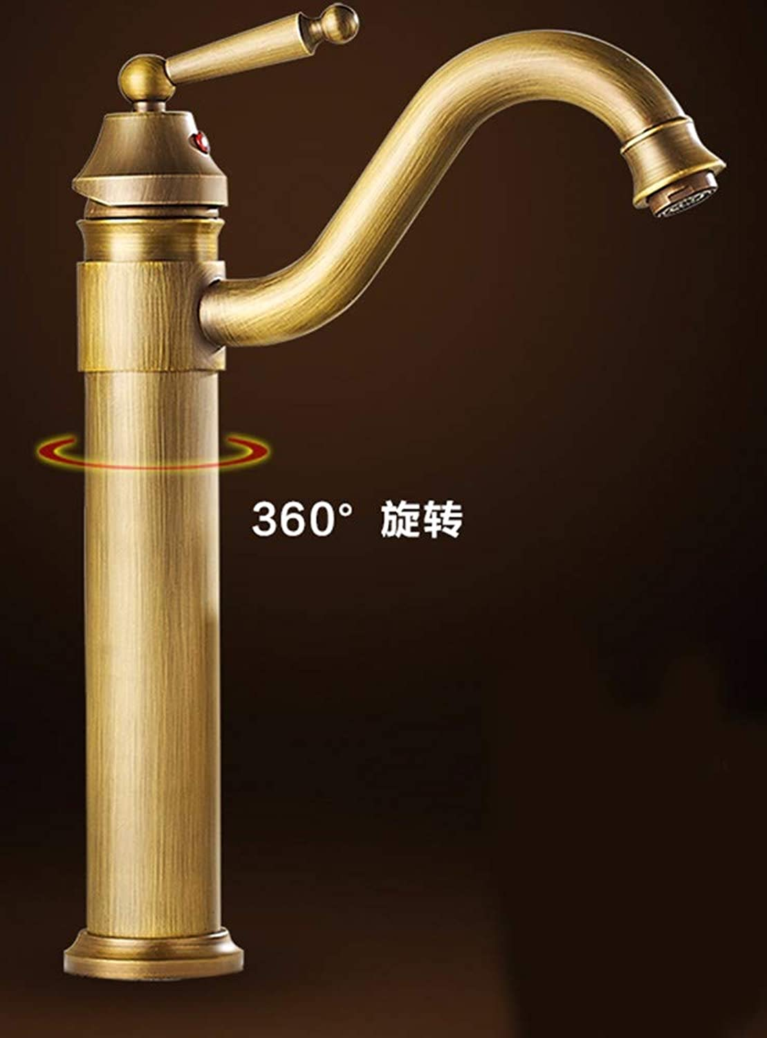 Hlluya Professional Sink Mixer Tap Kitchen Faucet Cold and hot, single handle single hole basin, on the whole, copper sink faucet,