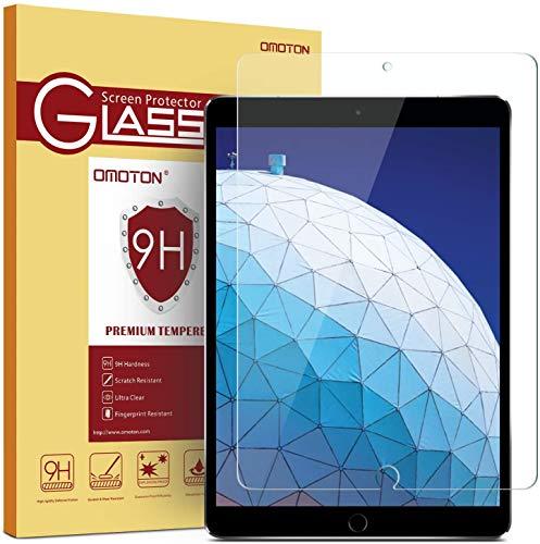 OMOTON Schutzfolie für iPad 10.2 [2019]/iPad Air 10.5 [2019]/iPad Pro 10.5 [2017], 9H Festigkeit, Anti-Kratzen, Anti-Öl, Anti-Bläschen