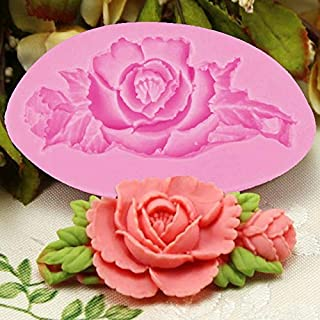 Rose/Flower Silicone Mold for Fondant, Cake Decorating Chocolate Cookie Soap Polymer Clay Resin