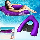 Inflatable Pool Lounger Water Hammock, No Pump Required Swimming Pool Floating...