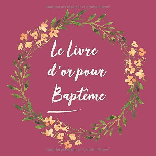 Le Livre d'or de mon Baptême: Livre d'or pour Baptême enfant bébé   le bel album   idee cadeau  ...