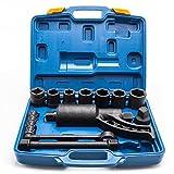 Anshunyin Heavy Duty Torque Multiplier Set Labor Saving Lug Nut Wrench Remover Socket Tool for Cars,Trucks,Buses,RVs