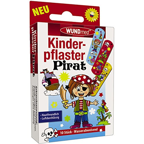 Wundmed 10er Vorteilspack Kinderpflaster Pirat, 10 Pack a 10 Stk. (100 Stk.)