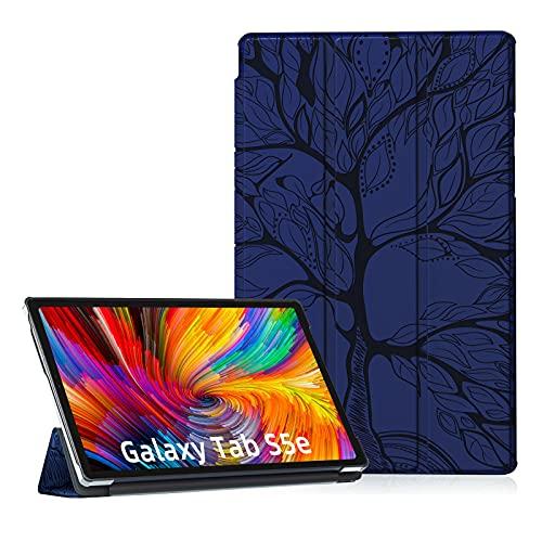 Auslbin Hülle für Galaxy Tab S5e 2019 10.5,PU Leder Flip Brieftasche Schutzhülle Case mit Auto Schlafen/Wachen Case für Samsung Galaxy Tab S5e 10.5 Zoll 2019 SM-T720/T725,Navy Blau