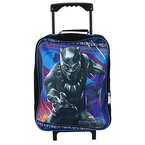 Marvel Kids' Black Panther Rolling Luggage, Blue, Blue, Size one size