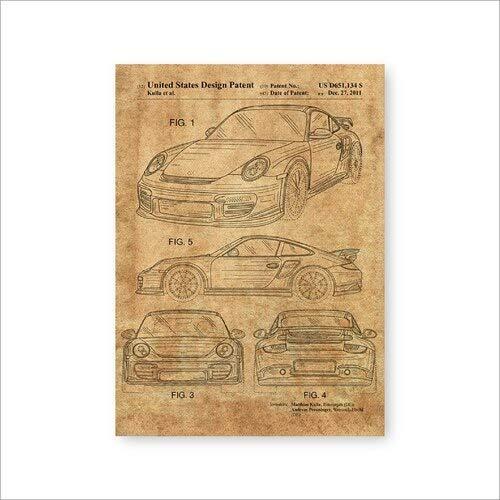 Impresiones de automóviles Coche deportivo Lienzo Arte de la pared Cartel Decoración de la habitación Arte Pintura Imagen Ideas de regalo 50x70cm