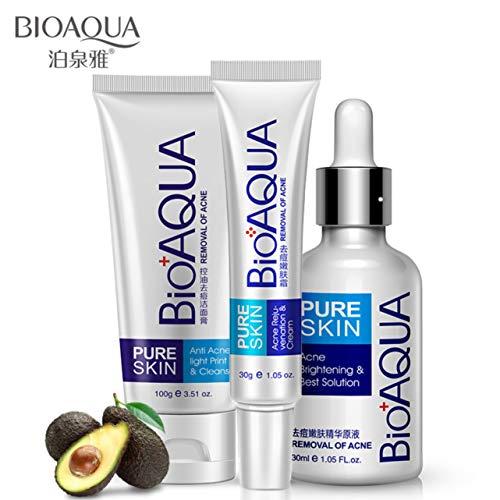 BIOAQUA 3in1 Face Acne Treatment Scar Removal Spots Whitening Oil Cream...