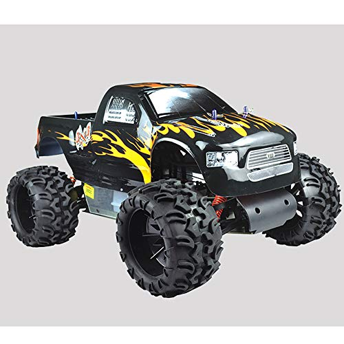 WYY 2WD Benzine Bigfoot Off-Road Auto, 1/5 Th Schaal Benzine RC TRT Voertuig Model Speelgoed, 30CC Engine, met FS-GT2 2.4Ghz Afstandsbediening Systeem