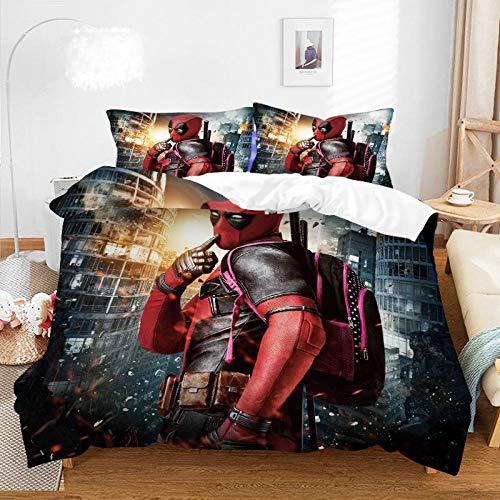 El juego de cama de anime de dibujos animados en 3D,la funda nórdica con estampado de rey niño y la funda de almohada grande son los mejores regalos para hermanos y hermanas-D-005_260*220cm(3pcs)